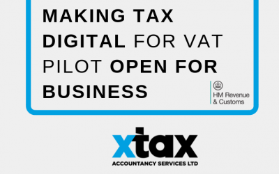 Making Tax Digital for VAT pilot open for Business